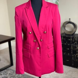 Double-Breasted Red Jacket